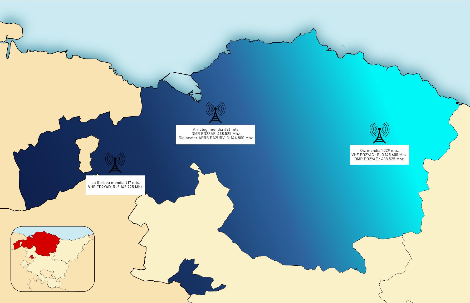 Mapa Red URV
